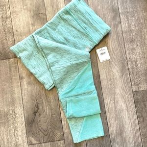FREE PEOPLE MOVEMENT KYOTO LEGGINGS TEAL GREEN NEW